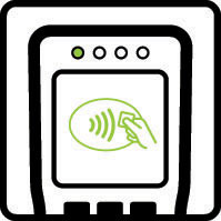Look for the contactless symbol