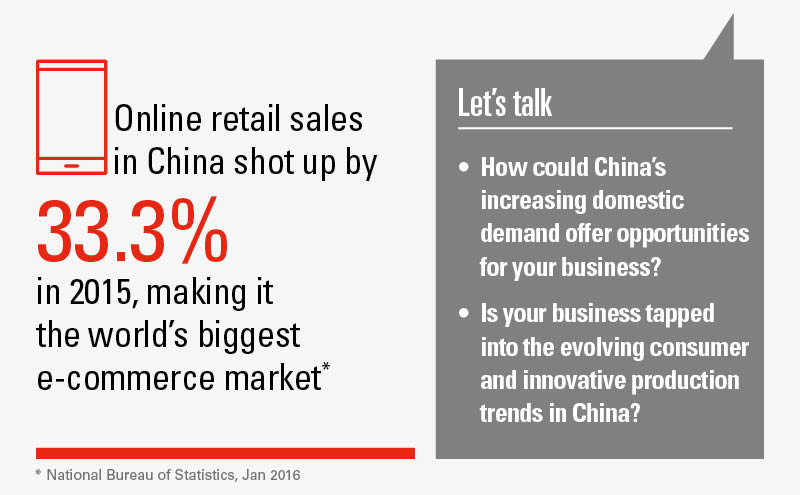 The RMB presents many potential benefits in the e-commerce market